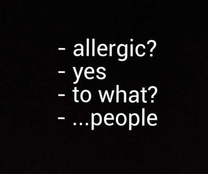 allergic and people image