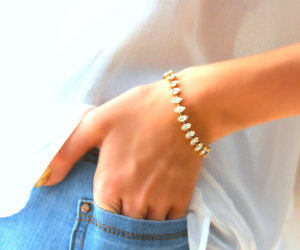 bracelet, chic, and crystal image