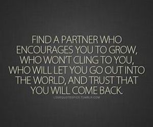 quote, partner, and love image
