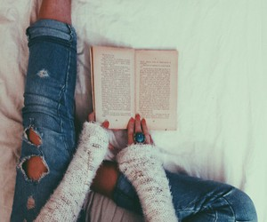 book and jeans image