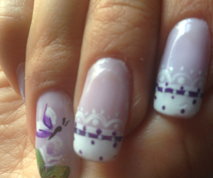 butterfly, diy, and nail image