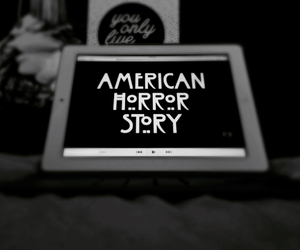 american, black and white, and american horror story image