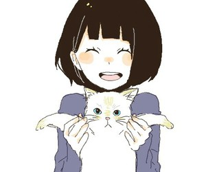 smile, anime, and cat image