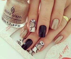 nails, bear, and cute image