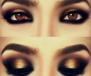 eye make up, makeup, and make up image