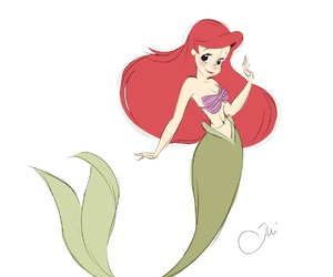 ariel, the little mermaid, and art image