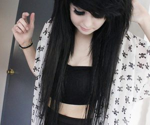 scene and black hair image