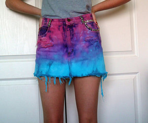 bright, tie dye, and dye image