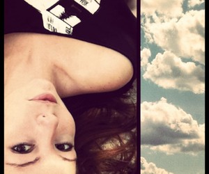 clouds, girl, and summer image