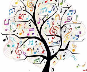 music and tree image