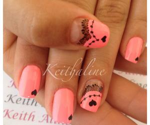 girls, nails, and nailart image