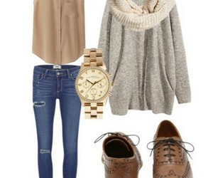 fashion, cardigan, and fall image