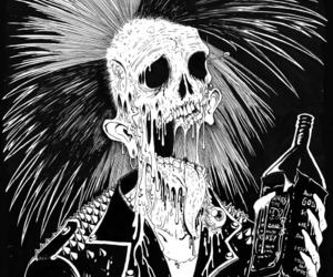 punk, art, and skull image