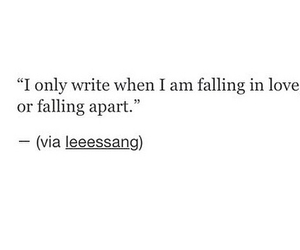 love, falling apart, and falling in love image