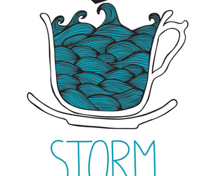 storm, tea, and cup image