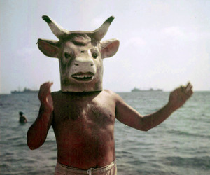 photo retro art, picture waves, and summer beach bull image