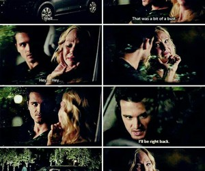 the vampire diaries, enzo, and caroline forbes image