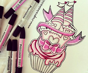 pink, black, and drawing image