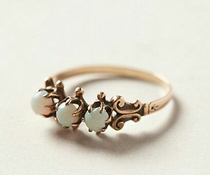 ring, vintage ring, and opals image