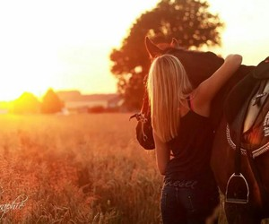 girl, horse, and photographie image