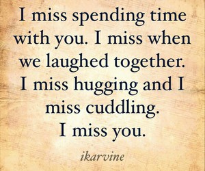 missing you, quotes, and love image
