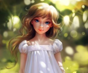 art, beautiful, and children image