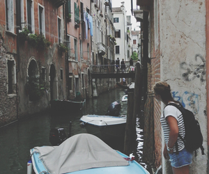 backpack, boat, and europe image