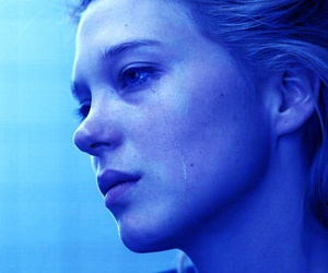 blue, crying, and Lea Seydoux image