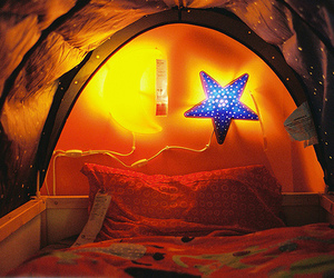 stars, bed, and bedroom image