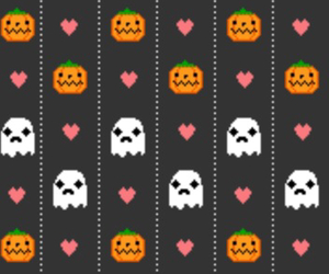 Halloween and hearts image