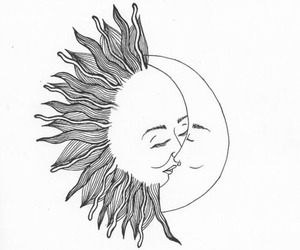 black and white, draw, and kiss image