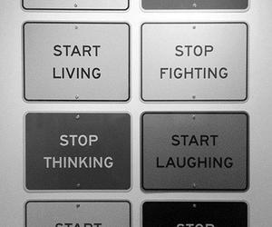 stop, start, and quotes image
