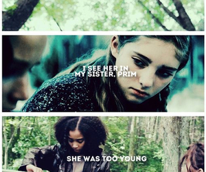 rue, katniss, and prim image