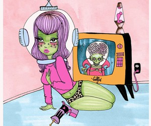 valfre, alien, and art image