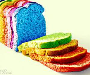bread, colorful, and rainbow image