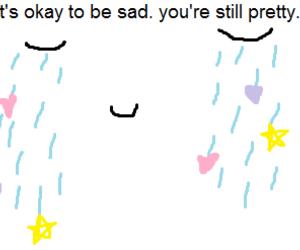 pretty, pink, and sad image