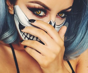 beauty, cosmetics, and Halloween image