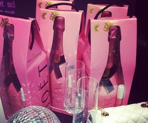 champagne and pink image