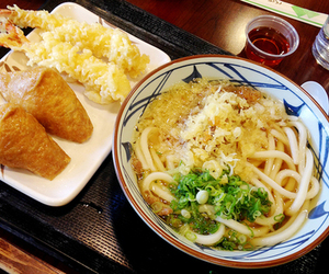 noodles, tempura, and udon image