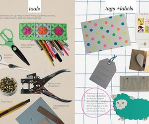 bookmark, diy, and gift wrapping image