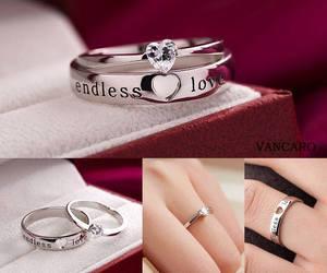 diamond, wedding rings, and silver image