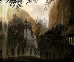 lord of the rings, rivendell, and elves image
