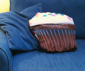 cupcake, pillow, and cute image