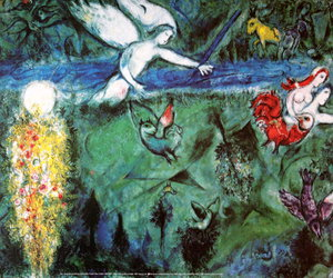 adam and eve and marc chagall image