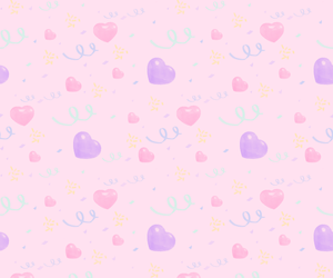 pink, heart, and pastel image