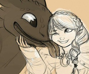 toothless, astrid, and how to train your dragon image