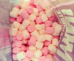 pink, food, and marshmallow image
