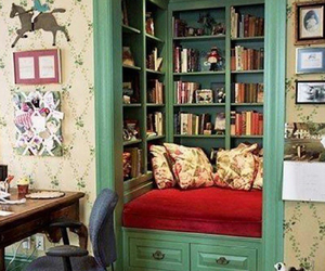 book, room, and closet image