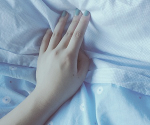 blue, dreamy, and hand image