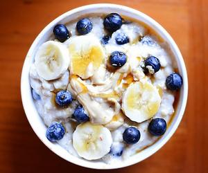 banana, blueberry, and food image